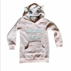 H&M (2T-4T) Hoodie Soft Pink w/ hearts